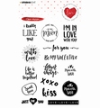 Studio Light Clear Stamp Filled with Love STAMPFWL509