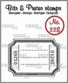 Crealies Clear Stamp Bits & Pieces Ticket CLBP228