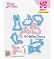 Nellie Snellen Shape Die Collection of Hares SD186