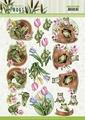 Amy Design knipvel Friendly Frogs - Flower Frogs CD11623