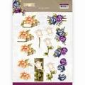 Precious Marieke knipvel Romantic Roses - Multicolor CD11614