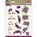 Precious Marieke knipvel Romantic Roses - Purple CD11613