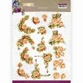 Precious Marieke knipvel Romantic Roses - Orange CD11612