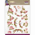 Precious Marieke knipvel Romantic Roses - Pink CD11611