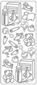 Stickervel Diverse afbeeldingen Zilver ST-0310