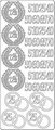 Stickervel Jubileum Zilver ST-0204 per vel