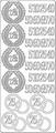 Stickervel Jubileum Zilver ST-0204