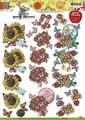 Yvonne Creations knipvel Beterschap Bloemen CD10369  per vel