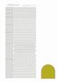 Hobbydots Sticker - Mirror - Yellow STDM05E