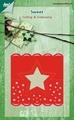 Joy Crafts Cutting & Embossing Stencil Kopkaartje 6002/0392*